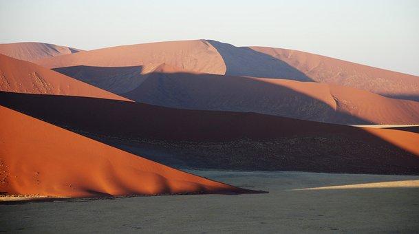 Dune, Sand, Desert, Sossusvlei, Contrast, Ridge, Africa