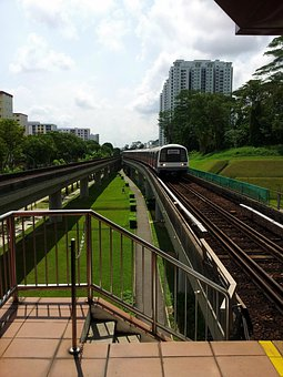 Singapore, Mrt, Train, Track, Transportation, Transport