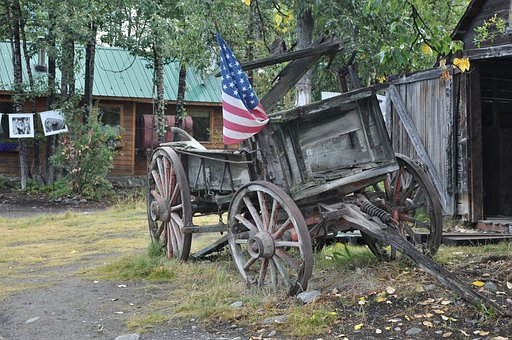 Usa, Wild West, Covered Wagon