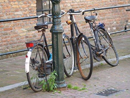 Bike, Holland, Netherlands, Amsterdam, City, Road