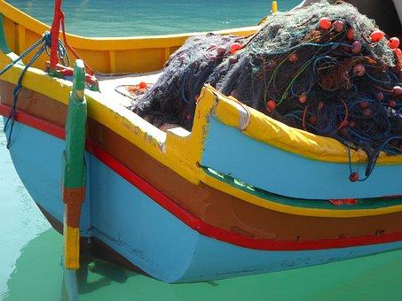 Fishing, Port, Malta, Marsaxlokk, Boot, Fishing Boat