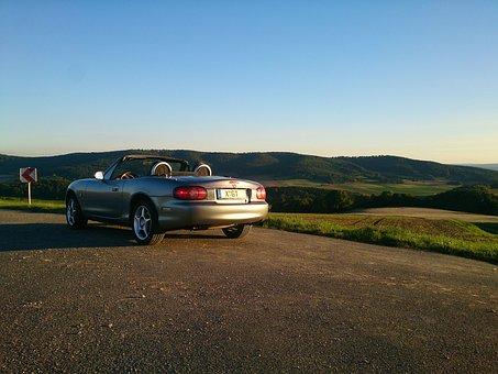 Mazda, Mx 5, Convertible, Cabriolet, Open