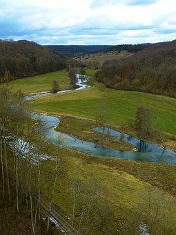 Eselsburg Valley, Brenz, River, Water, Valley