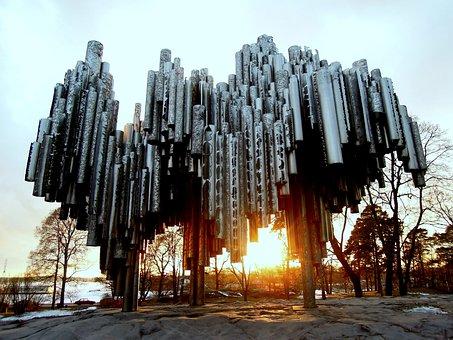 Sibelius Monument, Monument, Memorial, Finnish