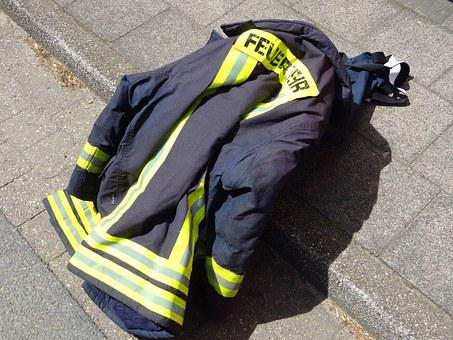 Fire, Use, Jacket, Firefighter Jacket, Accident, Brand