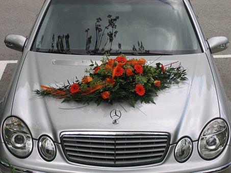 Mercedes, Flowers, Floral Arrangement, Wedding