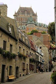 Canada, Quebec, Old Town, Frontenac, Castle