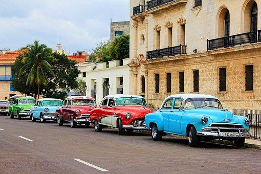 Cuba, Havana, Oldtimer, Auto, Vehicle, Cuban