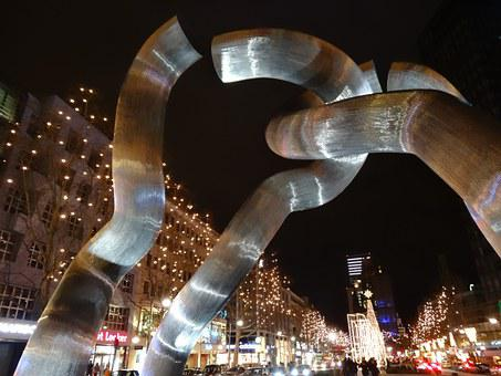 Modern, Art, Christmas, Berlin, Kurfürstendamm