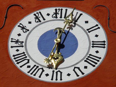 Clock, Time Of, Time, Pointer, Meersburg, Upper Gate