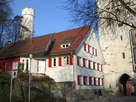Ravensburg, Downtown, Middle Ages, Upper Gate, Building