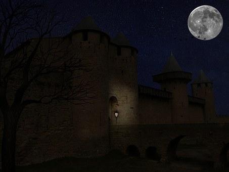 Creepy Castle, Creepy, Spooky, Castle, Midnight, Dark