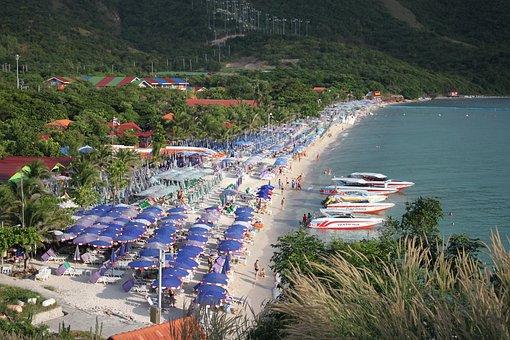 Beach, Pattaya, Kolan, Kolan Island, Koh Lan, Coast