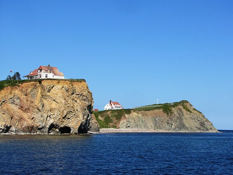 Perce, Quebec, Nature, Rock, Canada, Sea, Gaspe, Cliff
