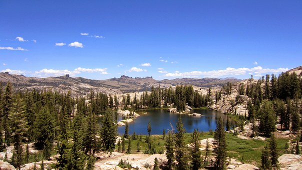 Emigrant Wilderness, Mountain Lake, Sierra Mountains