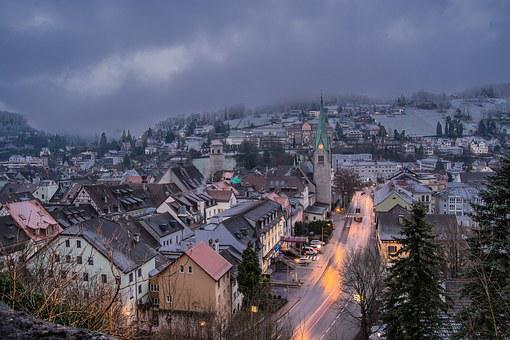 Feldkirch, City, Winter, Snow, Houses, Snowy, Cold