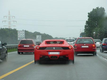 Ferrari, Car, Motorway, The Autobahn
