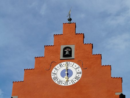 Tower, Roof, Upper Gate, Clock, Time Of, Time, Pointer