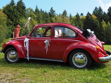 Vw Beetle, Bridal Car, Auto, Oldtimer, Vw, Vehicle