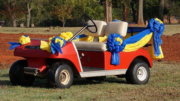 Golf Car, Vehicle, Wedding Car, Golf Course