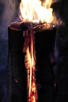 Finn Candle, Fire, Flame, Embers, Wood, Wood Fire
