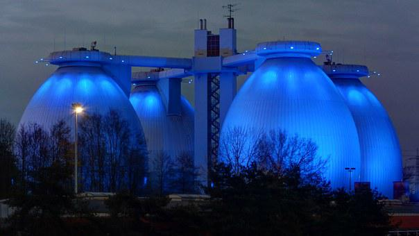 Sewerage, B224, Illuminated, Biomethane Plant, Boye