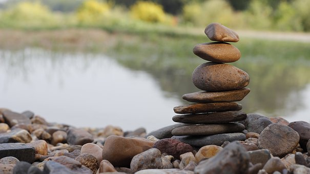 Balance, Stone, Zen, Stack, Natural, Water, Calm, Spa