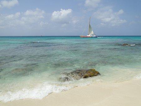 Sailboat, Mar, Sail Boat, Boat, Beach, Nature, Sky