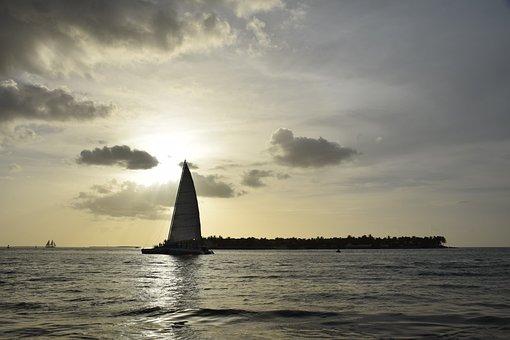 Sol, Boat, Beach, Sunset, Landscape, Water, Nature