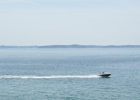Boat, Outboard, Navigation, Outboard Boat, Marine, Sea