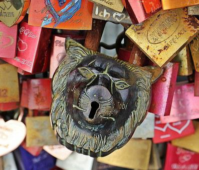 Love Locks, Love, Cologne, Hohenzollern Bridge, Bridge