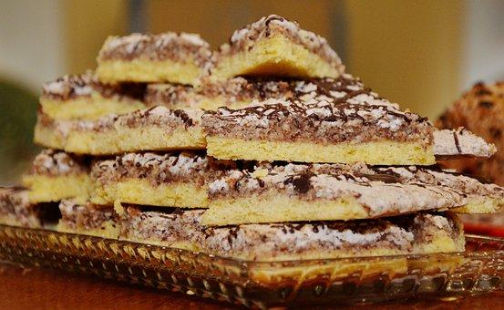 Cake, Nut, Walnut Corners, Bake, Baked, Cake Plate