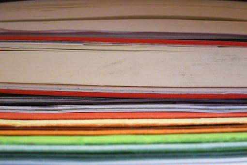 Color, Books, Stacked, Detail, Colorful, Layer, Paper