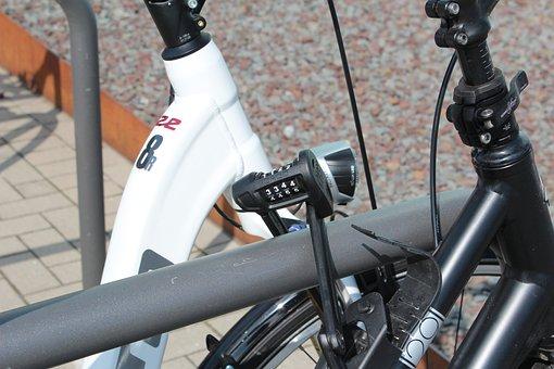 Combination Lock, Bike, Castle, Chain, Secure