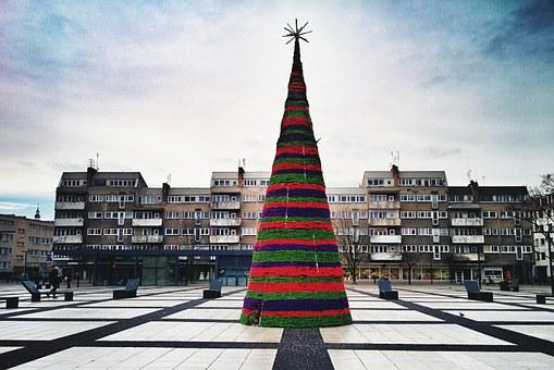 Wroclaw, Mobile, Christmas, Cityscape, Conservation