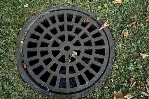 Sewer Cover, Iron Grate, Steel, Cover, Grate, Manhole