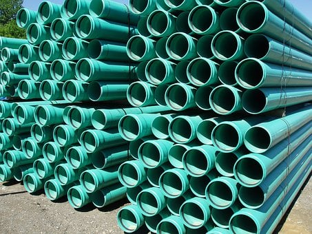 Green, Plastic, Pipes, Culvert, Water, Sewage, Pipe