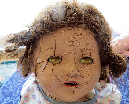 Cracked, Cracks, Doll, Head, Damaged, Distressed