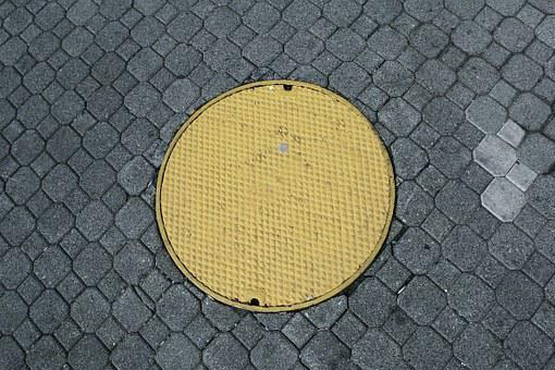 Manhole, Cover, Sewer, Drain, Cobblestone, Street