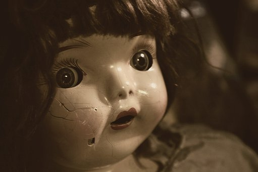 Doll, Creepy, Sepia, Broken, Scary, Spooky, Toy, Face