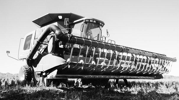 Combine, Farm, Farm Equipment, Harvest, Work, Field