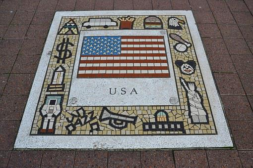 Usa, Team Emblem, Flag, Rugby, Symbol, Emblem, Team