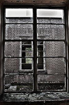 Broken Window, Glass, Frame, Window, Broken, Old