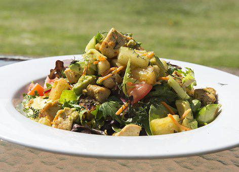 Salad, Pineapple Salad, Pineapple, Healthy, Lunch