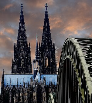 Cologne Cathedral, Hohenzollern Bridge, Arches, Bridge
