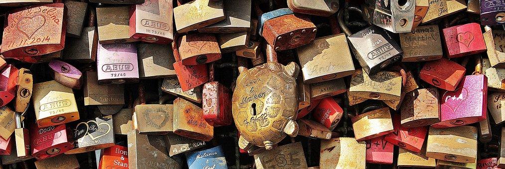 Love Locks, Love, Cologne, Hohenzollern Bridge, Bridge