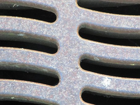 Cover, Iron, Sewage System, Road, Water, Trace