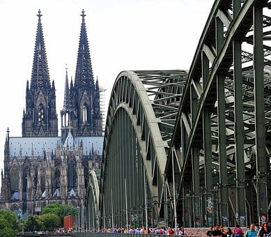 Cologne Cathedral, Hohenzollern Bridge, Love Locks