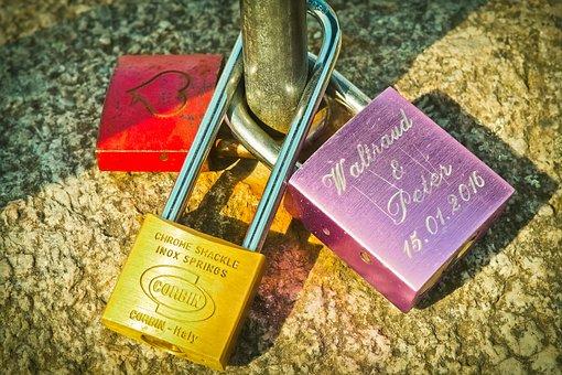 Castles, Love, Padlock, Love Locks, Padlocks, Bridge