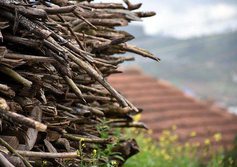 Wood Stack, Fire, Village, Ooty, Pile, Natural, Wooden